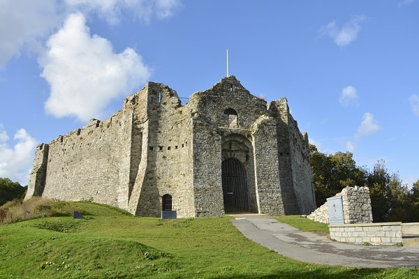 Oystermouth Castle in Swansea