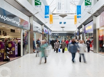 Quadrant Shopping Centre in Swansea